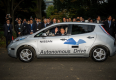 Prime Minister of Japan Drove Nissan LEAF to Mark the Beginning of Autonomous Drive